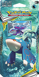 Kyogre Theme Deck packaging.
